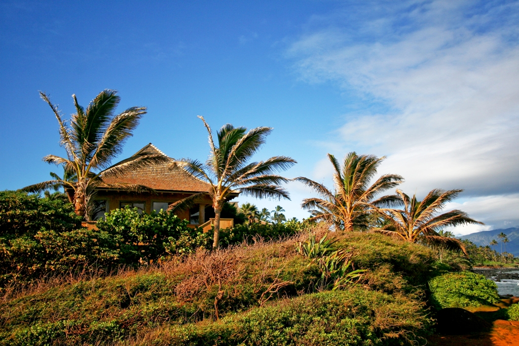 Baby Beach Bungalow View From Ocean Side