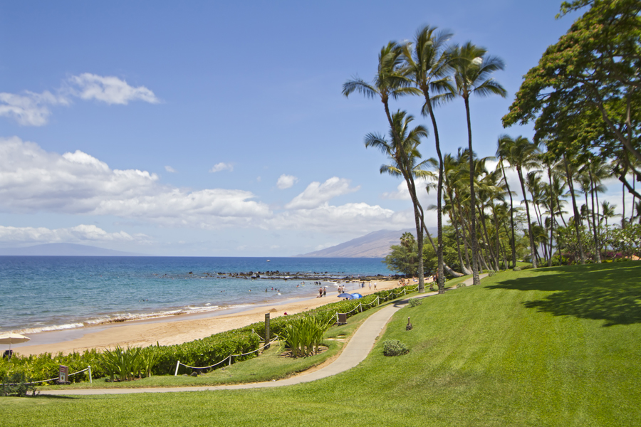 Ulua Beach, view from Wailea Elua