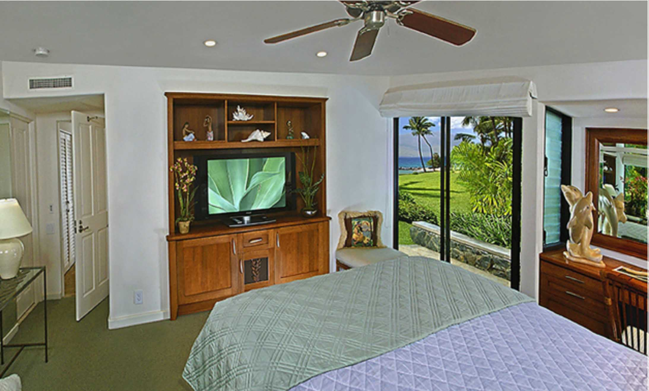 Sample master bedroom, oceanview