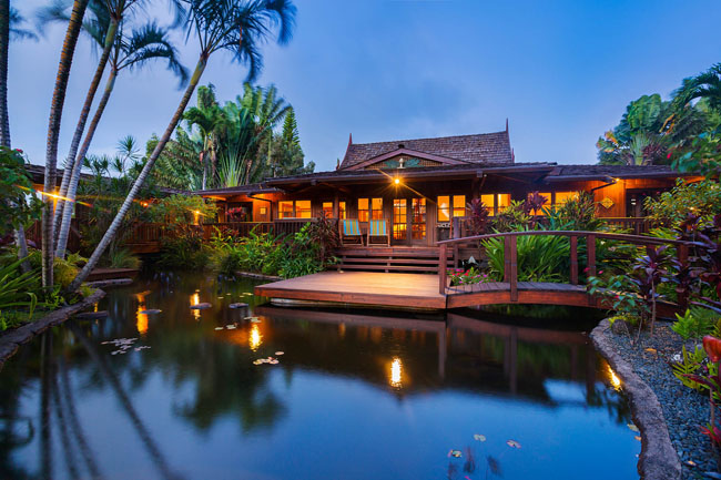 Pililani estate maui vacation advisors for Koi pool and sauna