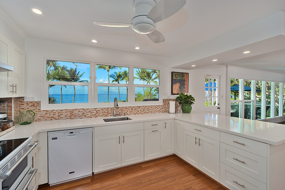 Renovated kitchen, ocean view