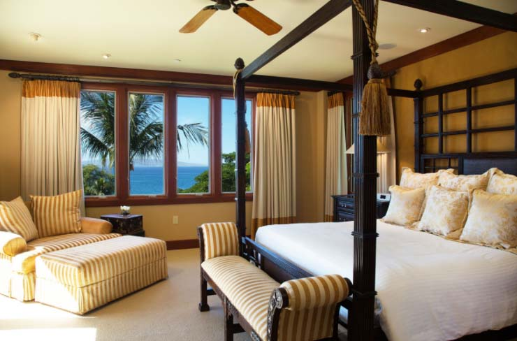 Master bedroom, ocean view