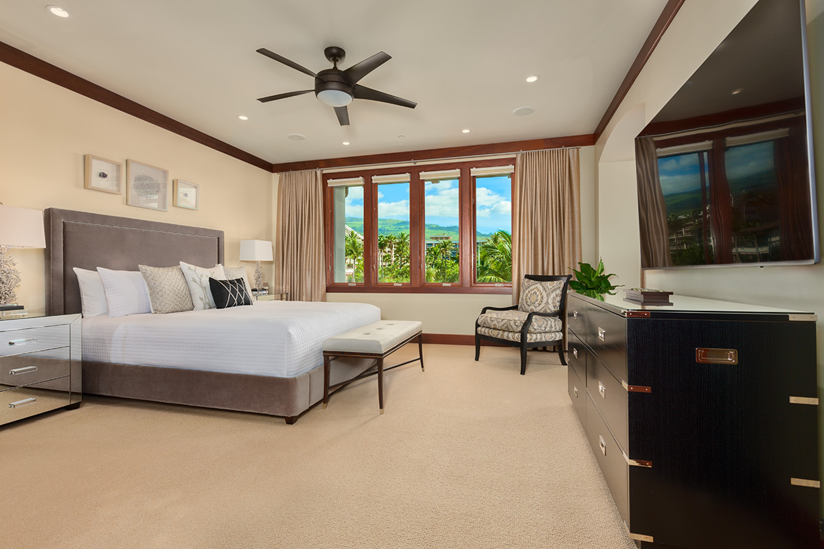 office in master bedroom wailea villas d 302 southshore 16545